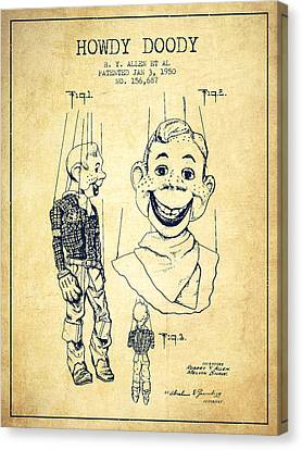 Doll Canvas Print - Hawdy Doody Patent From 1950 - Vintage by Aged Pixel
