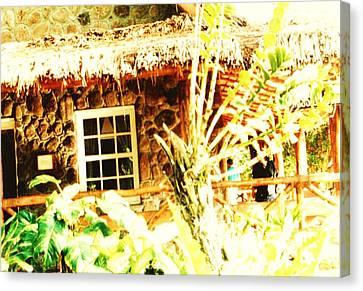 Hawii Hut Canvas Print by Joan Shortridge