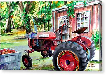Millbury Canvas Print - Hawk Hill Apple Tractor by Scott Nelson