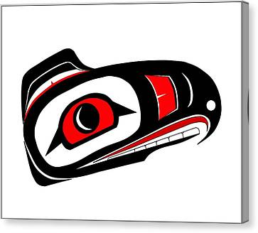 Hawk Mask Canvas Print by Fred Croydon