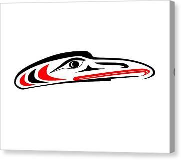 Hawk Mask II Canvas Print by Fred Croydon