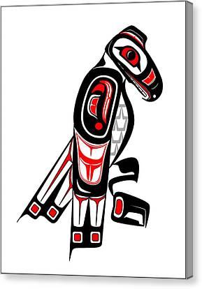 Hawk Totem Canvas Print by Fred Croydon
