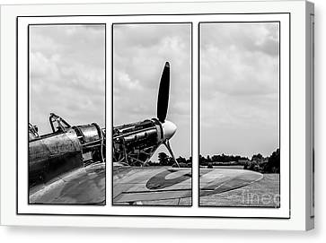 Hawker Hurricane Tryptych Canvas Print by Chris Thaxter