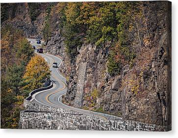 Hawk's Nest In The Fall Canvas Print by Eduard Moldoveanu