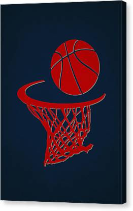 Hawks Team Hoop2 Canvas Print