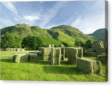 Hay Bales Canvas Print by Ashley Cooper
