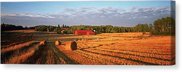 Bales Canvas Print - Hay Bales In A Field, Flen by Panoramic Images