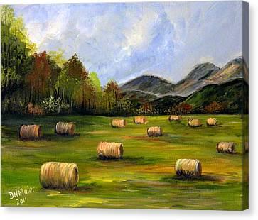 Hay Bales In Wv Canvas Print