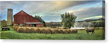 Hay Bales Canvas Print by Lori Deiter