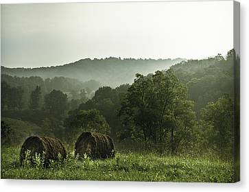 Hay Bales Canvas Print by Shane Holsclaw