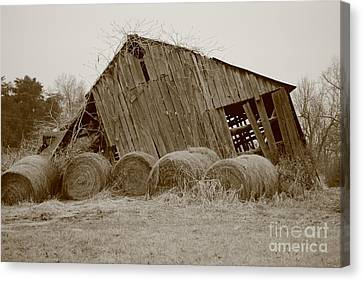 Hay Barn No 2 Canvas Print by Dwight Cook