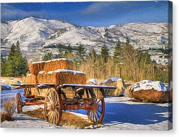 Hay Wagon Canvas Print