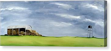 Haybale Canvas Print - Haybarn Dreaming by Ana Bianchi