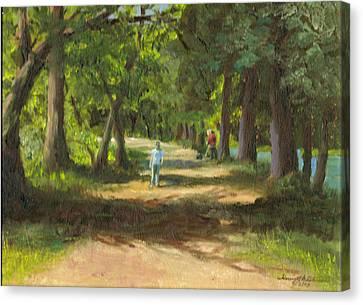 Hayden Shaded Path Canvas Print by Harriett Masterson