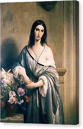 Hayez, Francesco 1791-1882. Melancholic Canvas Print by Everett