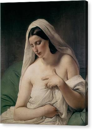 Hayez, Francesco 1791-1882. Odalisque Canvas Print by Everett