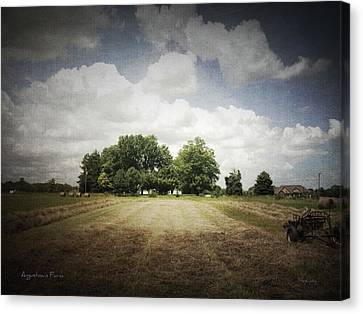 Haying At Angustown Canvas Print