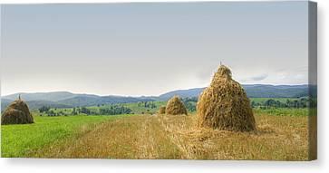 Hayrack Panorama Canvas Print