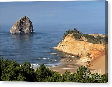 Haystack Rock And Cape Kiwanda Canvas Print