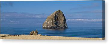 Haystack Rock - Pacific City Oregon Coast Canvas Print by Brian Harig