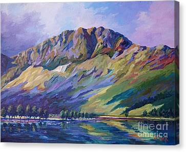 Hill District Canvas Print - Haystacks  Buttermere by John Clark