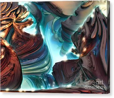 Haze Canyon Canvas Print