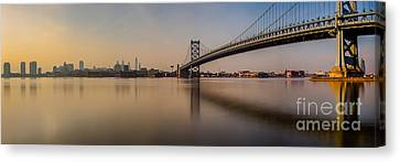 Benjamin Franklin Canvas Print - Hazy In Philly by Abe Pacana