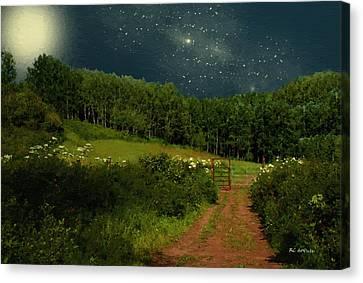Hazy Moon Meadow Canvas Print by RC deWinter