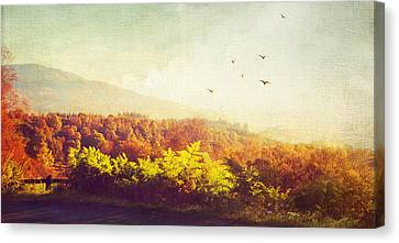 Hazy Morning In Trossachs National Park. Scotland Canvas Print by Jenny Rainbow