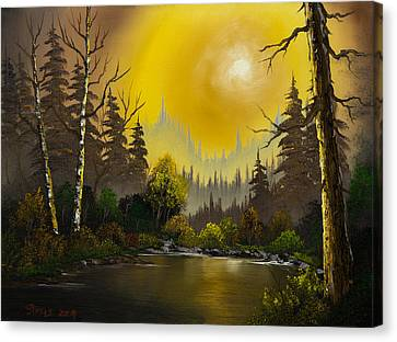 Bob Ross Canvas Print - Sunset Glow by Chris Steele