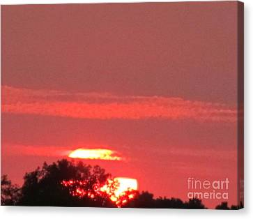Canvas Print featuring the photograph Hazy Sunset by Tina M Wenger