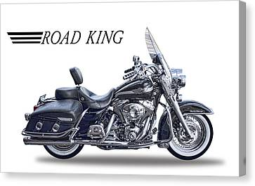 H D Road King Canvas Print by Daniel Hagerman