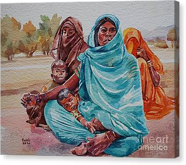 Hdndoh Eastern Sudan Canvas Print by Mohamed Fadul