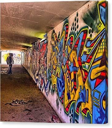 #hdr #colour #graffiti #steampunk #art Canvas Print by Debby Champion