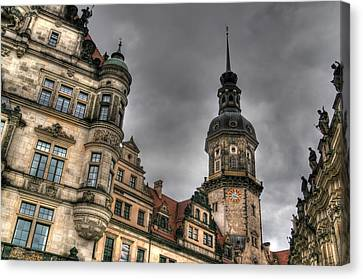 Hdr Image Made In Dresden Germany. Canvas Print by Mark Brooks