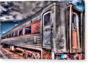 Hdr Train Canvas Print by DH Visions Photography