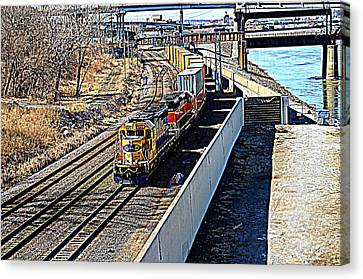 Hdr Train Canvas Print