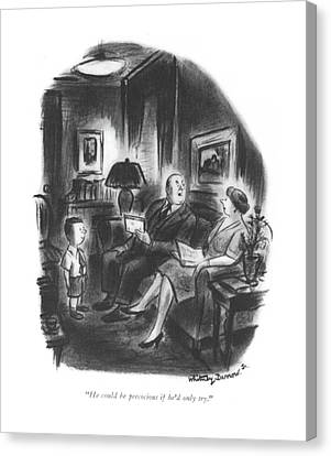 Schoolroom Canvas Print - He Could Be Precocious If He'd Only Try by Whitney Darrow, Jr.