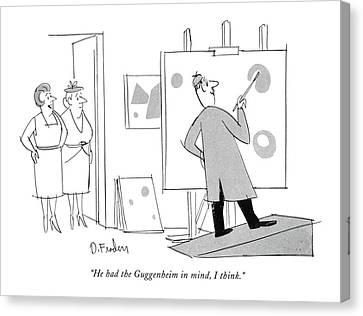 Guggenheim Canvas Print - He Had The Guggenheim In Mind by Dana Fradon