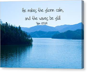 He Makes The Storm Calm Canvas Print