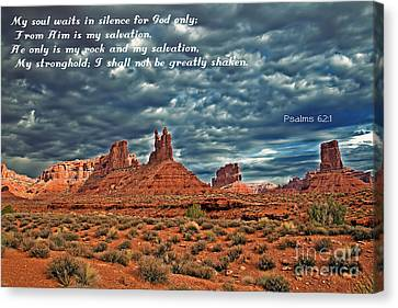 He Only Is My Rock Canvas Print by Robert Bales