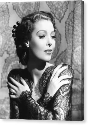 He Stayed For Breakfast, Loretta Young Canvas Print by Everett