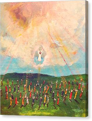 He Went Up Into The Clouds Canvas Print by Richard  Hubal