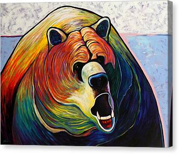Growling Canvas Print - He Who Greets With Fire by Joe  Triano