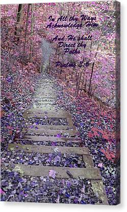 He Will Direct My Path Canvas Print by Lorna Rogers Photography