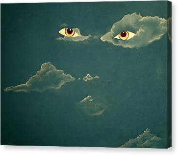 Head In The Clouds Canvas Print by Corina Bishop