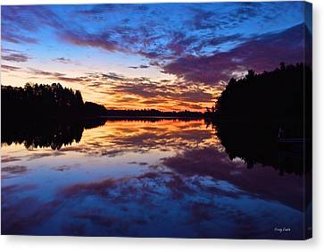 Vermilion Bay Sunrise Canvas Print - Head O Lakes by Craig Voth