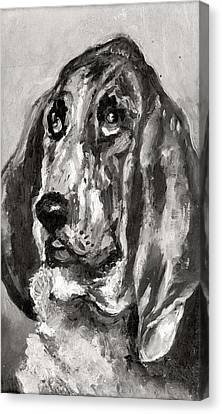 Head Of A Dog Running, 1880 Canvas Print