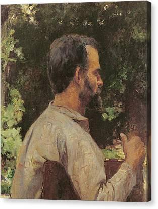 Half-length Canvas Print - Head Of A Man by Henri de Toulouse-Lautrec