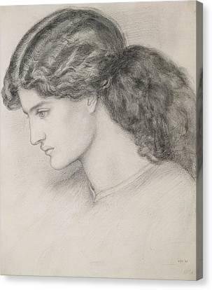Portraiture Canvas Print - Head Of A Woman by Dante Gabriel Charles Rossetti